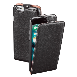 Ledertasche für iPhone 6s Hama 177499 FlapCase, schwarz