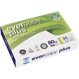 Kopierpapier Recycling Evercopy Plus 50048, A4, 80g, 95er-Weiße, 500 Blatt