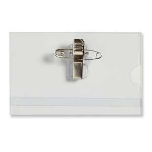 Namensschild Lyreco, 89 x 55mm, mit Kombiklemme, 50 Stück