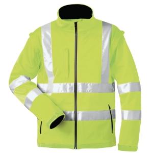Warnschutz-Softshelljacke elysee LOGAN 22702, gelb, Gr. 3XL