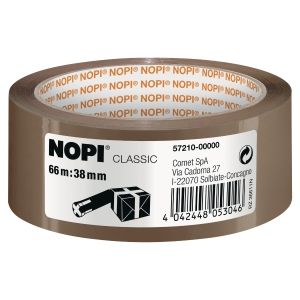 Packband NOPI 57210-15, 38 mm x 66 m, braun
