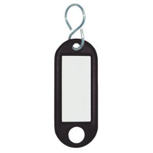 Schlüsselanhänger Wedo 262803401, aus Kunststoff, mit S-Haken, schwarz