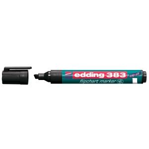Flipchartmarker edding 383, Keilspitze, Strichstärke: 1-5mm, schwarz