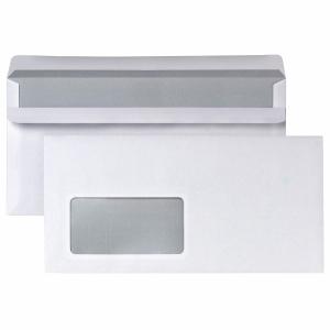 Briefumschläge DIN lang, mit Fenster, Selbstklebung, 75g, weiß, 1000 Stück