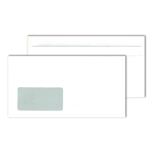 Kompaktumschläge 125 x 235mm, mit Fenster, Selbstklebung, 80g, weiß, 1000St