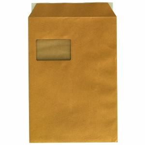 Versandtaschen C4, mit Fenster, Haftklebung, 90g, braun, 250 Stück