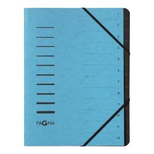 Ordnungsmappe Pagna 40059, 12 tlg., mit Gummizug, blau