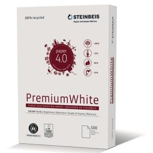 Kopierpapier Recycling Steinbeis Premium White, A3 80g, 147erWeiße, 500 Blatt
