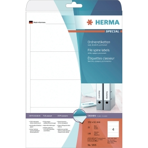 Ordner-Etiketten Herma 5095, kurz / breit, weiß, 100 Stück