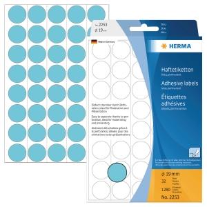 Markierungspunkte Herma 2253, Ø 19mm, blau, 1280 Stück