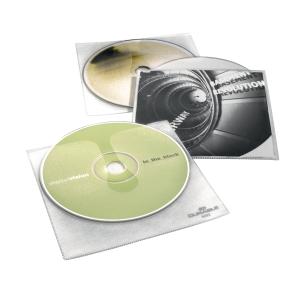 CD/DVD-Hülle Durable 5202, für 1 CD/DVD, mit Schutzvlies, transparent, 10 Stück