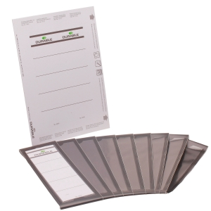Rückenschilder Durable Ordofix 8090, lang / breit, schwarz, 10 Stück