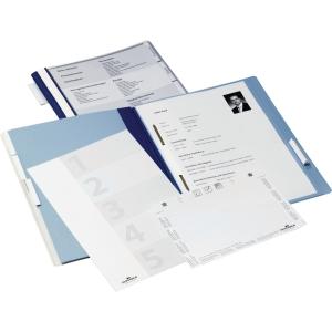 Hängehefter Durable 2555, Personal, A4, aus Hartfolie, 5 Heftungen, blau