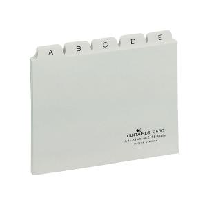 Leitkartenregister Durable 3660, A-Z, A6 quer, weiß