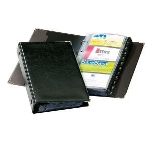 Visitenkartenringbuch Durable 2383, Visifix, für 280 Karten, schwarz