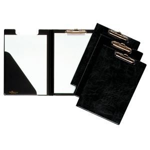 Blockmappe Durable 2355, A4, mit Federklemme + Dreiecktasche, schwarz