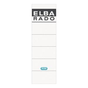 Rückenschilder Elba 04617, kurz / breit, weiß, 10 Stück
