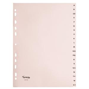 Register Lyreco, A-Z, A4, aus Papier, 20 Blatt, chamois