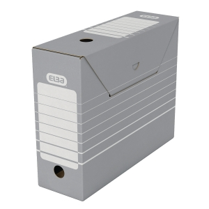 Archivschachtel Elba 83422, Maße: 34 x 11 x 27cm, grau/weiß