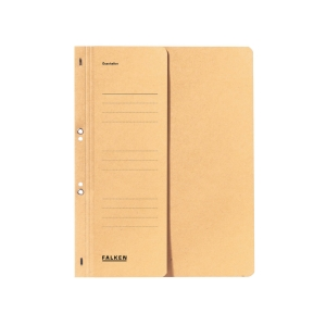 Ösenhefter Falken 80003825, A4, halber Vorderdeckel, kaufmännische Heftung, gelb