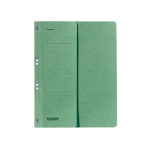 Ösenhefter Falken 80000490, A4, halber Vorderdeckel, kaufmännische Heftung, grün
