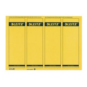 Rückenschilder Leitz 1685, kurz / breit, gelb, 100 Stück