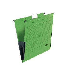 Hängetasche A4, mit Leinenfröschen, grün, 5 Stück