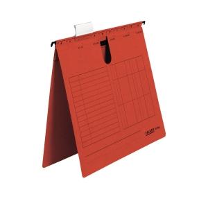 Hängehefter, A4, kaufmännische Heftung, rot, 5 Stück