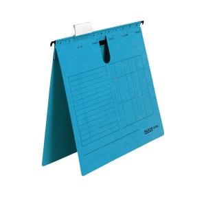 Hängehefter, A4, kaufmännische Heftung, blau, 5 Stück