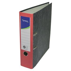 Ordner Lyreco Standard, A4, Rückenbreite: 80mm, rot