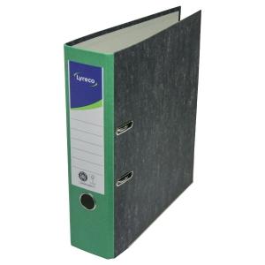 Ordner Lyreco Standard, A4, Rückenbreite: 80mm, grün