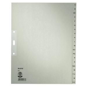 Register Leitz 1201, A-Z, A4, aus Papier, 20 Blatt, grau