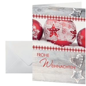Weihnachtskarte Sigel DS053, Winter Feel, DIN Lang, 25 Stück