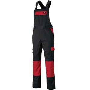 Arbeitslatzhose DICKIES Everyday ED24/7BB-BKRD, Größe: 60, Schwarz/Rot