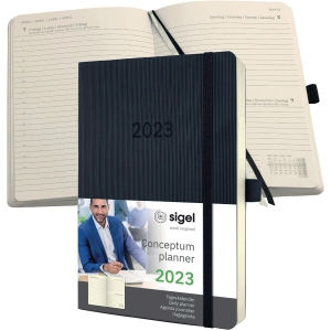 Tageskalender 2020 Conceptum C2020, 1 Tag / 1 Seite, 13,5 x 21,0cm, schwarz