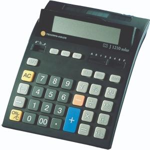 Tischrechner TA J1210, 12stellig, Solar-/Batteriebetrieb, schwarz