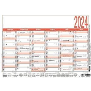 Tafelkalender 2019 Zettler 904, 6 Monate / 1 Seite, A5