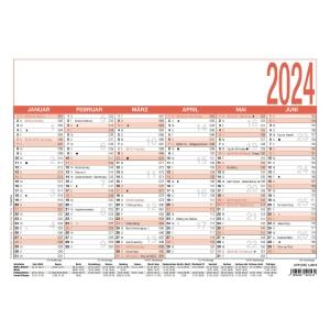 Tafelkalender 2019 Zettler 907, 6 Monate / 1 Seite, A4