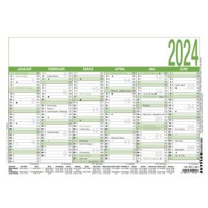 Tafelkalender 2019 Zettler 907UWS, 6 Monate / 1 Seite, A4