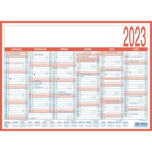 Tafelkalender 2019 Zettler 908, 6 Monate / 1 Seite, A4
