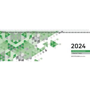 Tischquerkalender 2019 Zettler 146, 1 Woche / 1 Seiten, 30 x 10cm, grün