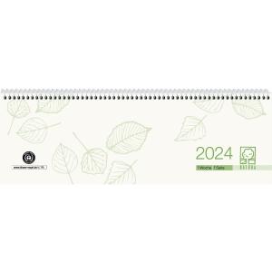 Tischquerkalender 2020 Zettler 146UWS, 1 Woche / 1 Seite, 30 x 10cm, grau/gn
