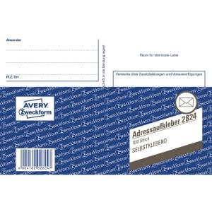 Avery Zweckform 2824 Adressaufkleber/Paketaufkleber, A6, selbstklebend, 100 Bl