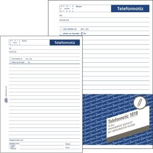 Telefonnotiz Avery Zweckform 1019 , A5, 50 Blatt