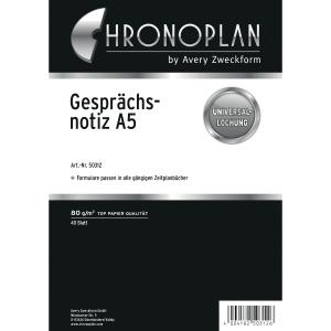 Gesprächsnotizen Chronoplan 50312, A5, weiß, 40 Blatt