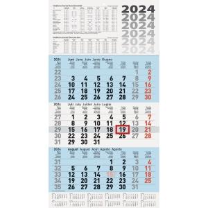 Dreimonatskalender 2019 Brunnen 70210, 3 Monate / 1 Seite, 29x61,8cm