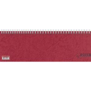 Tischquerkalender 2019 Glocken 71921, 1 Woche / 1 Seite, 29,7x10cm, rot