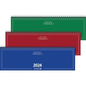Tischquerkalender 2019 Brunnen 77401, 1 Woche / 2 Seiten, 32,6x10,2cm, sortiert