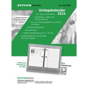 Umlegekalender-Ersatzblock 2019 Zettler 336, 1 Tag / 2 Seiten, 8x11cm