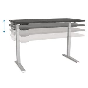 Schreibtisch Fellowes 9708701, verstellbar, Größe: 140 x 80cm, weiß